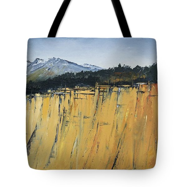 Of Bluff And Mountain Tote Bag by Carolyn Doe