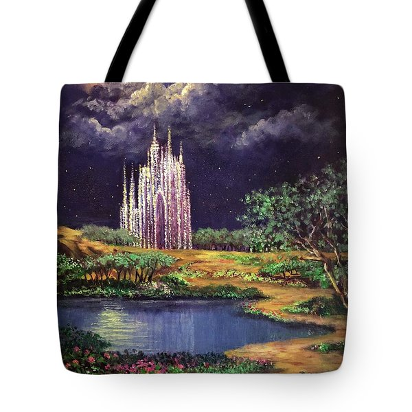 Of Glass Castles And Moonlight Tote Bag