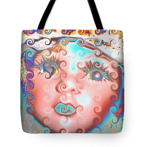 Tote Bag featuring the digital art Of Many Colors by Holly Ethan