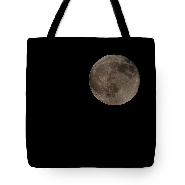 Off Center Moon Tote Bag