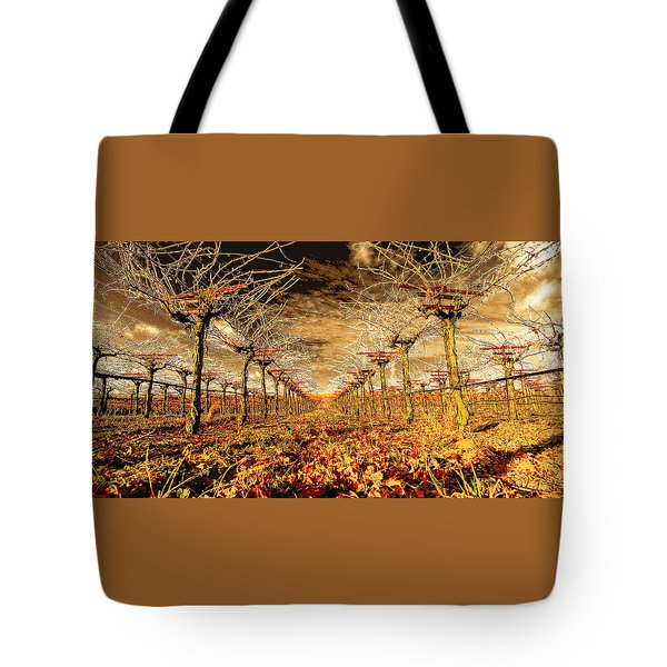 Tote Bag featuring the photograph Off Of The Vine by Steve Siri