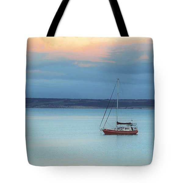 Tote Bag featuring the photograph Off Sailing by Stephen Mitchell