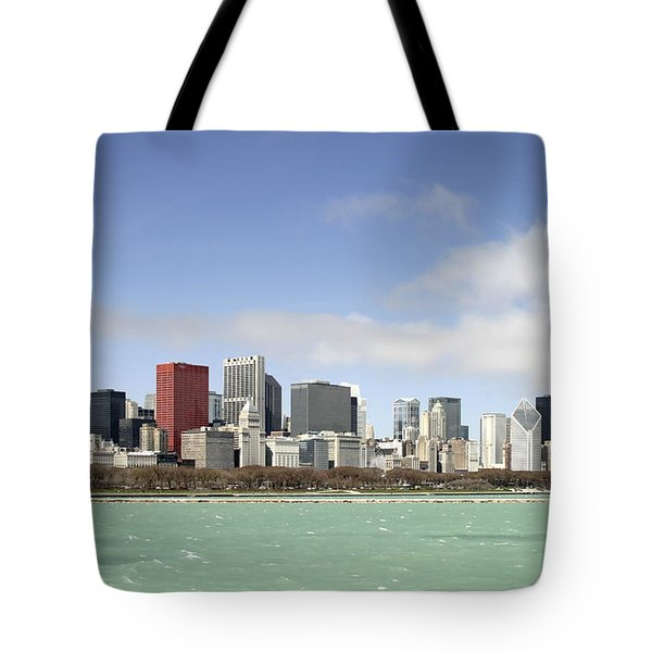 Off The Shore Of Chicago Tote Bag