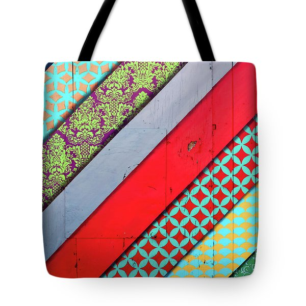 Off The Wall - Pattern 4 Tote Bag
