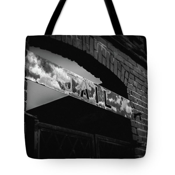 Off To Jail Tote Bag