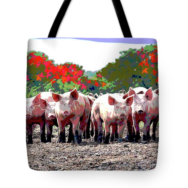 Tote Bag featuring the mixed media Off To The Market by Charles Shoup