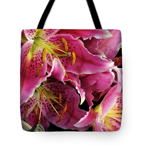 Tote Bag featuring the digital art Offering #4 by Karo Evans