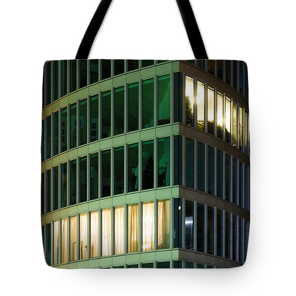 Office Building At Night Tote Bag