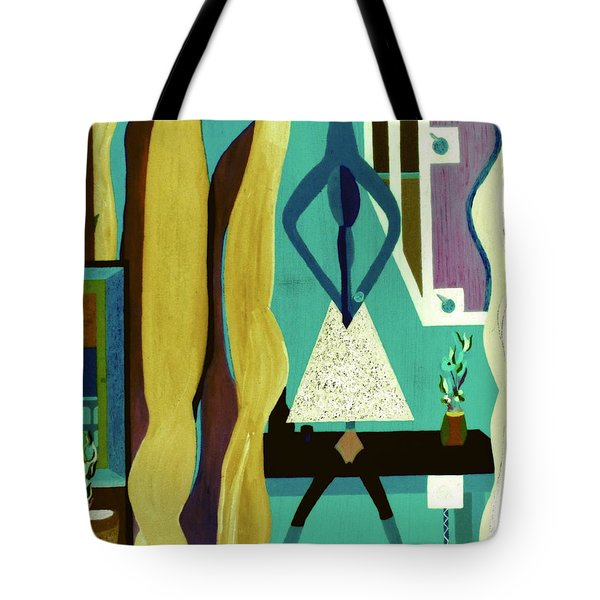 Tote Bag featuring the painting Office Party by Bill OConnor