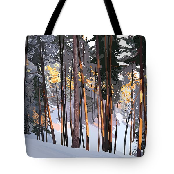 Office View Winter Alpenglow Tote Bag