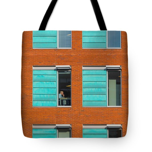 Office Windows Tote Bag