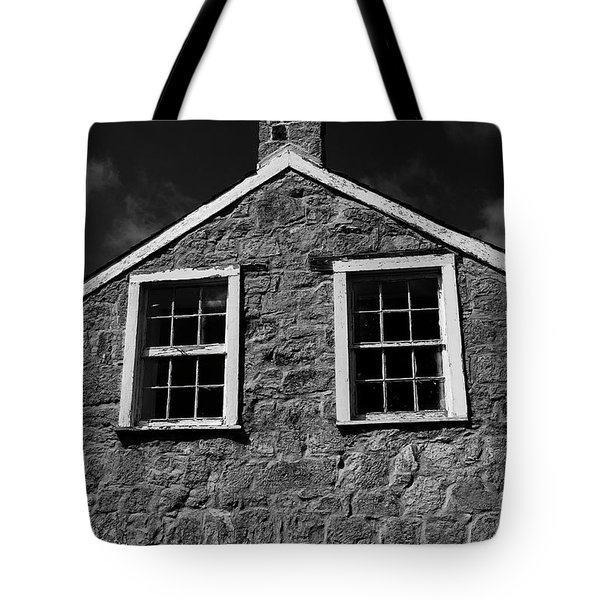 Tote Bag featuring the photograph Officers Quarters, Monochrome by Travis Burgess