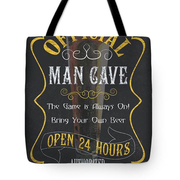 Official Man Cave Tote Bag