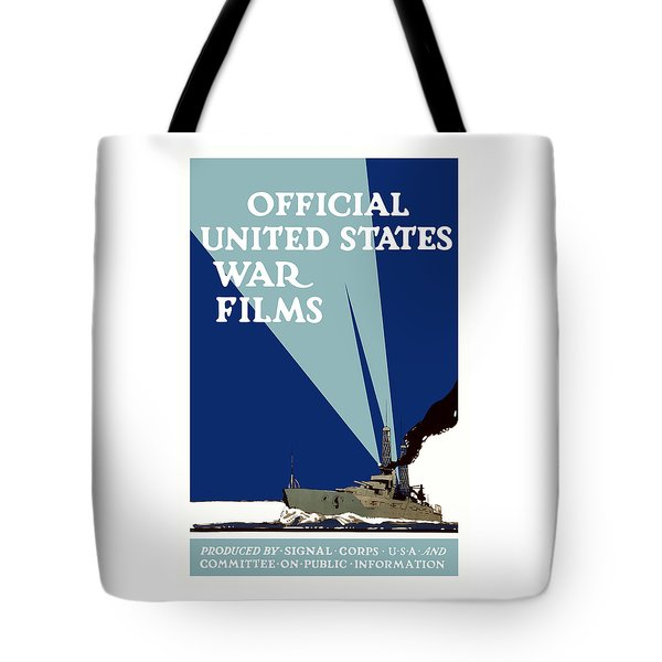 Official United States War Films Tote Bag by War Is Hell Store