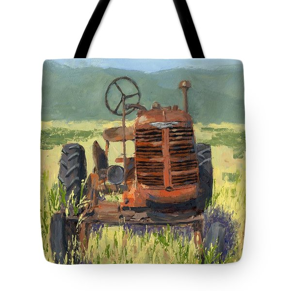 Offset High Crop Tote Bag