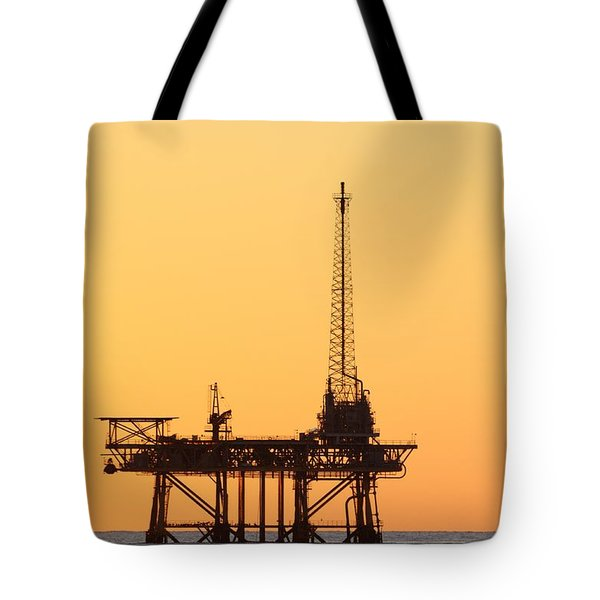 Offshore Oil And Gas Platform  Tote Bag