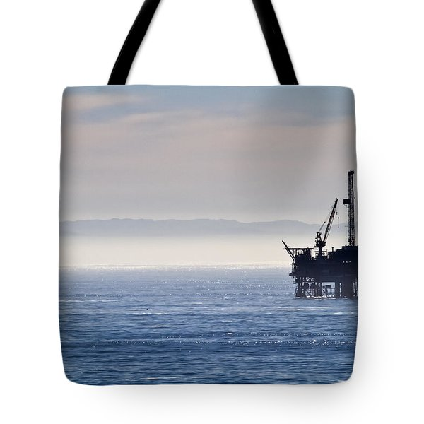 Offshore Oil Drilling Rig Tote Bag