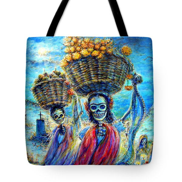Tote Bag featuring the painting Ofrendas by Heather Calderon