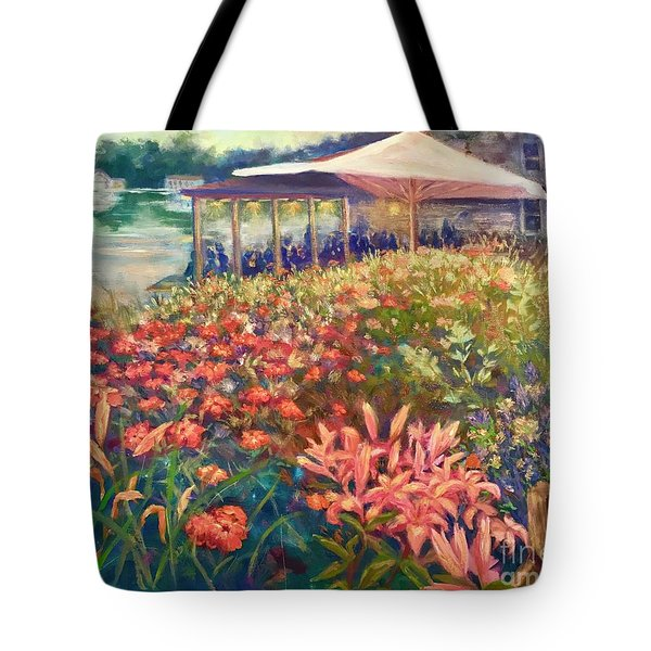Ogunquit Gardens At Waterside Restaurant Tote Bag