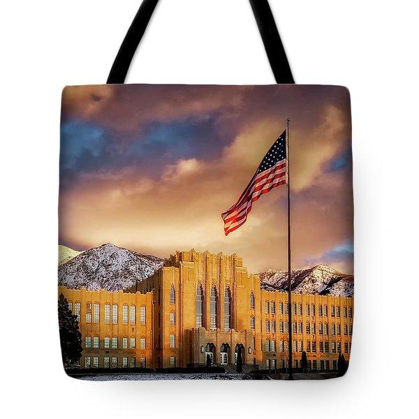 Ogden High School At Sunset Tote Bag