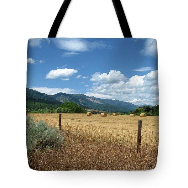 Ogden Valley Hay Bales Photo Tote Bag