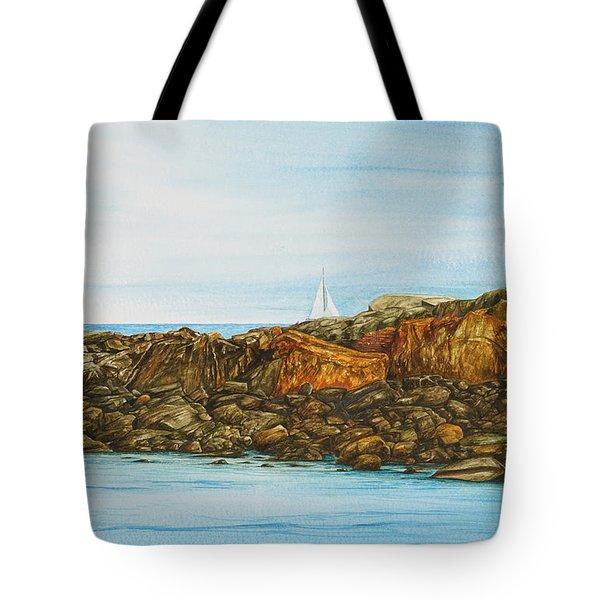 Ogunquit Maine Sail And Rocks Tote Bag
