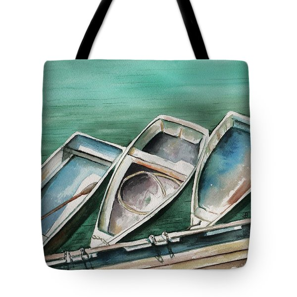 Ogunquit Maine Skiffs Tote Bag