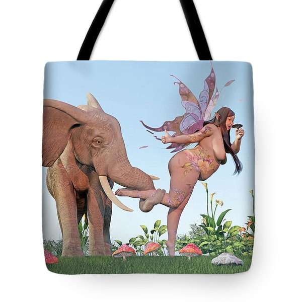 Oh Alice Tote Bag by Betsy Knapp