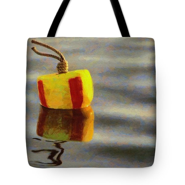 Tote Bag featuring the painting Oh Buoy by Jeff Kolker