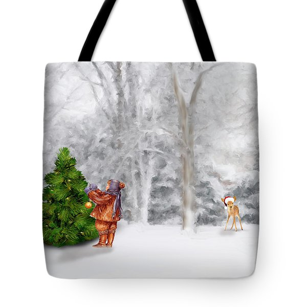 Oh Christmas Tree Tote Bag by Mary Timman
