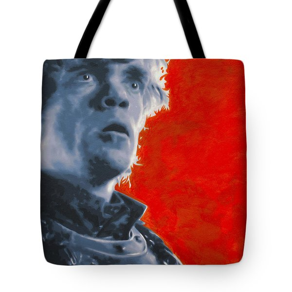 Tote Bag featuring the painting Tyrion Lannister by Luis Ludzska