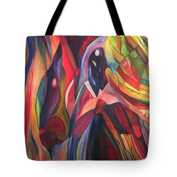Tote Bag featuring the painting Oh Master, Me by Linda Cull
