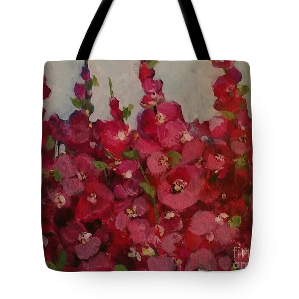 Oh My Hollyhocks Tote Bag