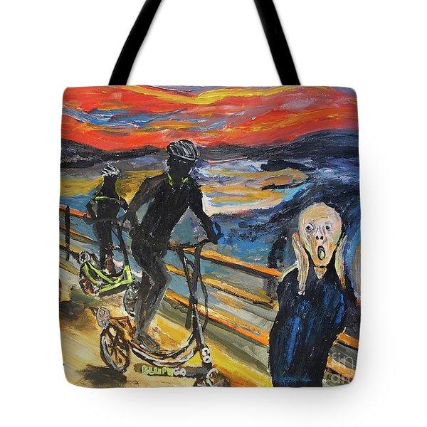 Oh No,elliptigo Tote Bag