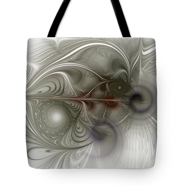 Tote Bag featuring the digital art Oh That I Had Wings - Fractal Art by NirvanaBlues