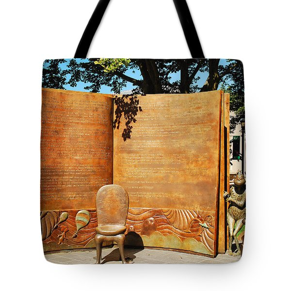 Oh The Places Youll Go Dr Seuss Memorial Garden Tote Bag