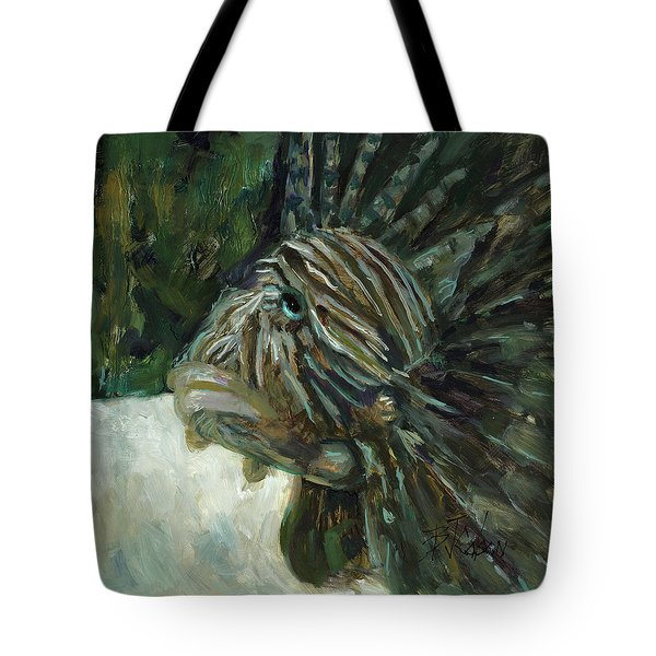 Tote Bag featuring the painting Oh The Troubles I've Seen by Billie Colson