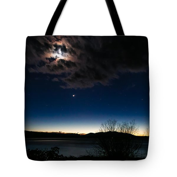 Tote Bag featuring the photograph Oh What A Night by Jan Davies