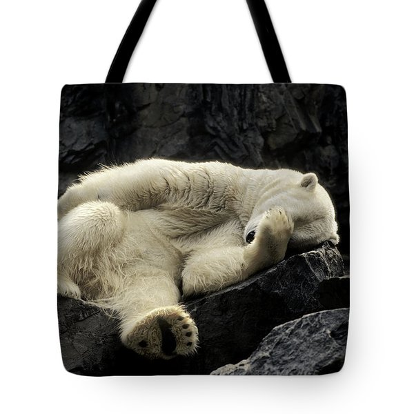 Oh What A Night Polar Bear Tote Bag