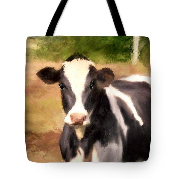 Cow Eyelashes Tote Bags Fine Art America