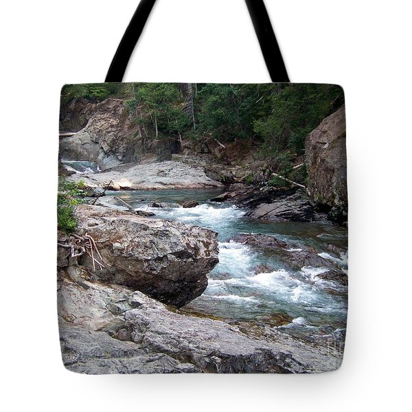 Tote Bag featuring the photograph Ohanapacosh River by Charles Robinson