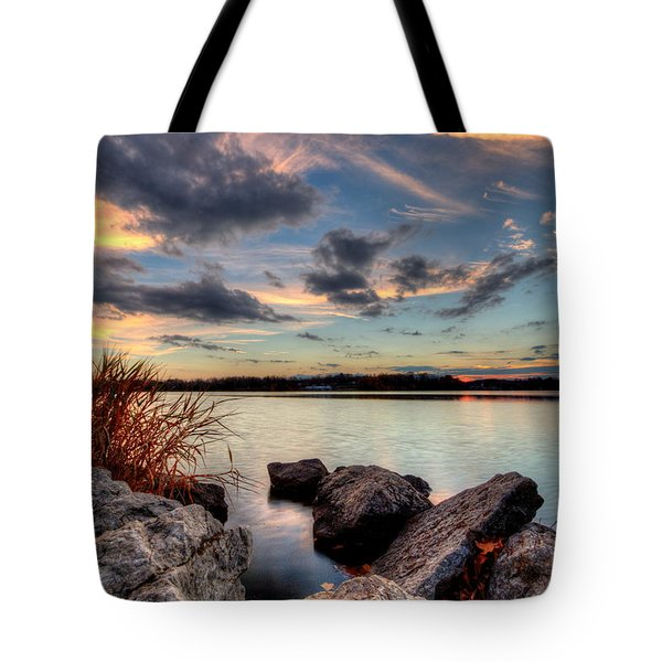 Ohio Fall Sunset Tote Bag
