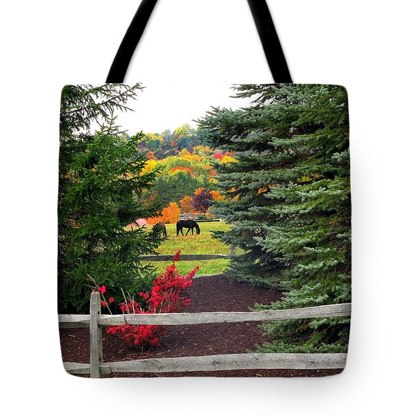 Ohio Farm In Autumn Tote Bag