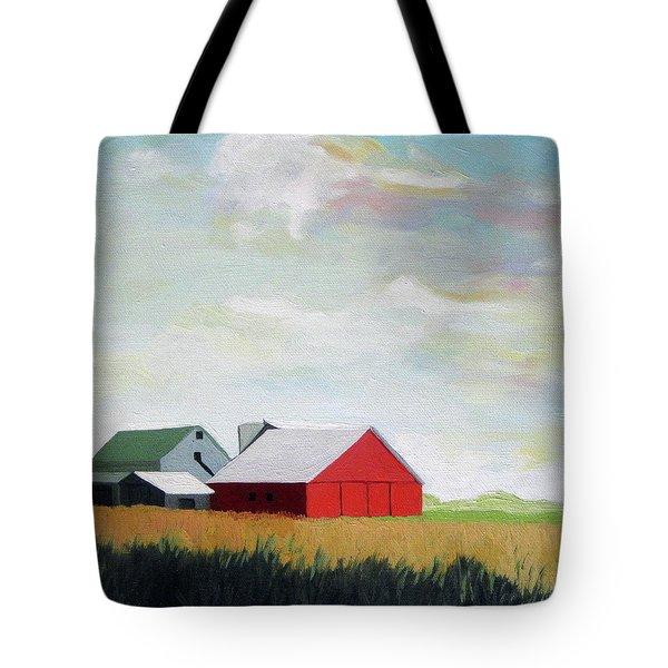 Ohio Farmland- Red Barn Tote Bag