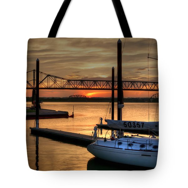 Ohio River Sailing Tote Bag by Deborah Klubertanz