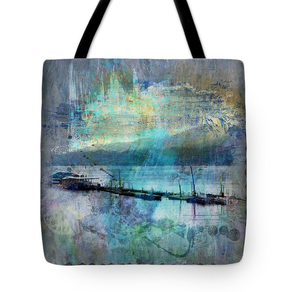 Ohio River Splatter Tote Bag by Diana Boyd