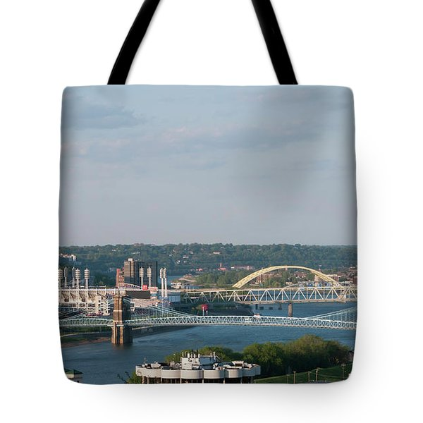 Ohio River's Suspension Bridge Tote Bag