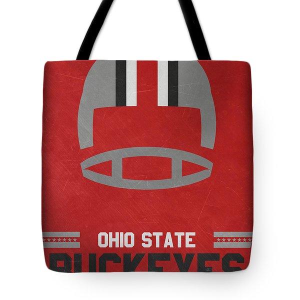 Ohio State Buckeyes Vintage Football Art Tote Bag