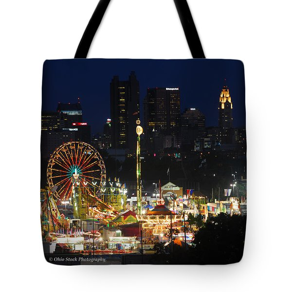 D3l-464 Ohio State Fair With Columbus Skyline Tote Bag
