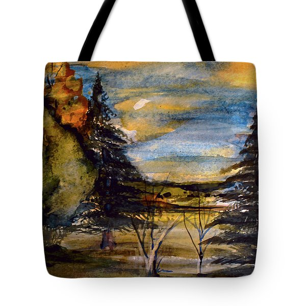 Tote Bag featuring the painting Ohio Sunset by Mindy Newman